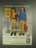 1977 Downy Fabric Softener Ad - Guess Whose Mother