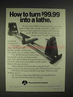 1975 Rockwell International 46-010 Wood Lathe Ad