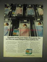 1975 Pampers Diapers Ad - Hospitals Care for More
