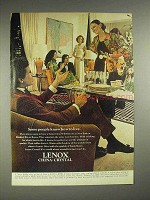 1974 Lenox China and Crystal Ad - Know How To Live