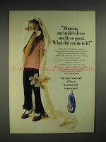1974 Downy Fabric Softener Ad - Bride Dress Smells Good