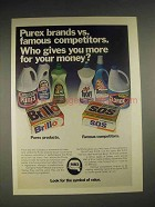 1973 Purex Products Ad - Bleach, Sweet Heart, Brillo