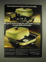 1972 Sunbeam Cook N Clean Cradle model FP6P Ad
