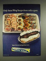 1970 Saran Wrap Advertisement - Keeps Them Miles Apart