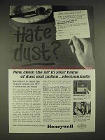 1963 Honeywell Electric Air Cleaner Ad - Dust, Pollen