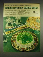 1960 Dow Saran Wrap Ad - Nothing Saves Like