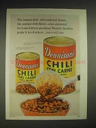 1959 Dennison's Chili Con Carne Ad - The Leanest Beef