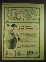 1957 Thermos Vacuum Vessels Ad - Model 54Q Jug