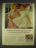 1956 Cheer Detergent Ad - Window Test Proves
