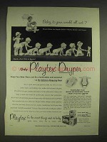 1952 Playtex Dryper Diaper Ad - Is Your World All Wet?