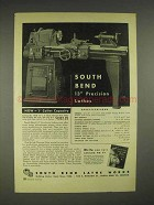 1949 South Bend 145-B Quick Change Gear Lathe Ad