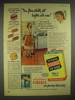 1948 Simoniz Wax Ad - Floors Get Brighter With Wear