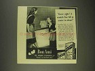 1946 Bon Ami Cleanser Ad - Scratch-Free Tub Easier