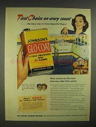 1946 Johnson's Glo-Coat Wax Ad - First Choice