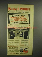1945 Old Dutch Cleanser Ad - We Saw it Proved