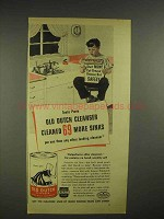 1945 Old Dutch Cleanser Ad - Cleaned More Sinks