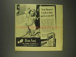 1945 Bon Ami Cleanser Ad - Look, Mummy!