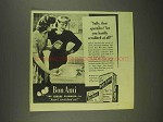 1945 Bon Ami Cleanser Ad - Sally, That Sparkles!