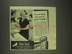 1945 Bon Ami Cleanser Ad - Secret of Speedy Cleaning