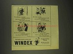 1945 Windex Cleaner Ad - A Newlywed Couple