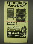 1945 Old English Scratch Removing Polish Ad - Beauty