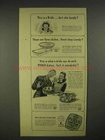 1944 Pyrex Oven Ware Ad - This is a Bride, Lovely