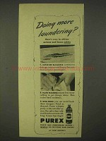 1944 Purex Bleach Ad - Doing More Laundering?