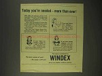 1944 Windex Cleaner Ad - Today You're Needed