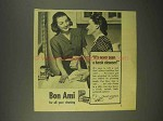1944 Bon Ami Cleanser Ad - It's Never Seen Harsh