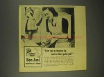 1944 Bon Ami Cleanser Ad - Such a Fine, Quick Job