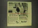 1943 Bon Ami Cleanser Ad - Make a Sink Really Shine