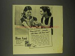 1943 Bon Ami Cleanser Ad - Easy To Make Tubs Shine