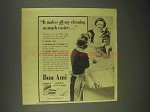 1943 Bon Ami Cleanser Ad - Makes All Cleaning Easier