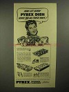 1942 Pyrex Utility Dish Ad - Serve You All These Ways