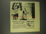 1942 Bon Ami Cleanser Ad - How Fast It Cleans