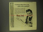 1942 Bon Ami Cleanser Ad - Doesnêt Have to Be Gritty