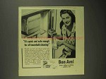 1942 Bon Ami Cleanser Ad - Quick and Safe Enough