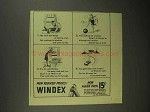 1942 Windex Cleaner Ad - Uncle Had Biceps Hard as Bat