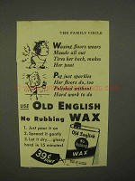 1942 Old English Wax Ad - Wears Maude All Out