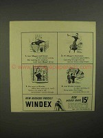 1941 Windex Cleaner Ad - Knock All Men For a Loop