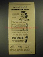 1941 Purex Bleach Ad - Kitchen Beauty Bath