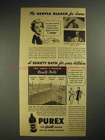 1941 Purex Bleach Ad - Gentle For Linens