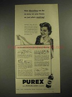 1941 Purex Bleach Ad - Easy on Your Linens