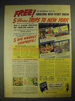 1941 Ivory Snow Detergent Ad - Trips to New York