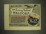 1941 Scott Tissue Waldorf Toilet Paper Ad - Softer