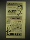 1940 Purex Bleach Ad - You Know Purex is Gentle