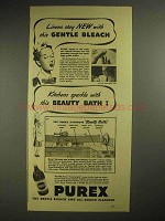 1940 Purex Bleach Ad - Linens Stay New