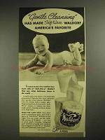 1940 Scott Tissue Waldorf Toilet Paper Ad - Gentle Cleansing