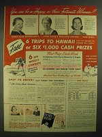 1940 Ivory Snow Detergent Ad - Happy as These Winners