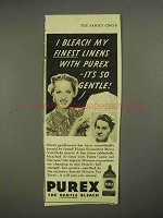 1939 Purex Bleach Ad - It's So Gentle